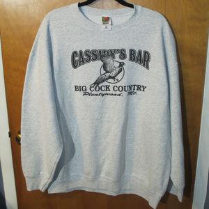 Cassidy's Bar Plentywood MT Gray Sweatshirt XXL